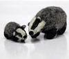 needle-felted badger made by Ruth Packham