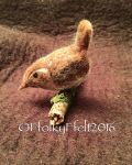 3D needle-felted bird by Emma Bevan