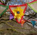 Summer Rag Rug Bunting by Sue Clow