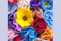 felt flowers by Sarah Fisher