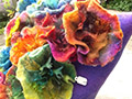 felted flowers by Tessa Gavin