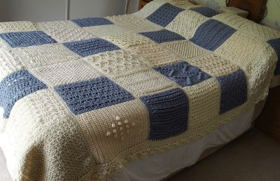 Quilted bedspread by Margaret Hughes