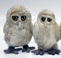 Owls made by Ruth Packham